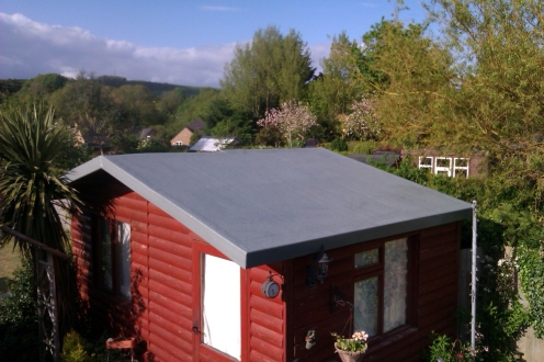 After - GRP Fibreglass Shed Rood