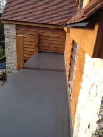 GRP Fibre Glass Flat Roof
