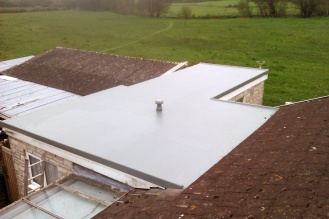 Flat Roof 2. After with GRP Fibre Glass