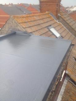 After - GRP Fibreglass Roof