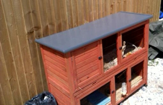 GRP Fibre Glass Hutch Roof