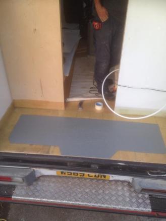 GRP Fibreglass Van Floor