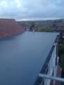 After - GRP Fibreglass Extension Roof