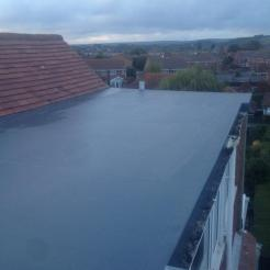 After - GRP Fibreglass Extension Roof