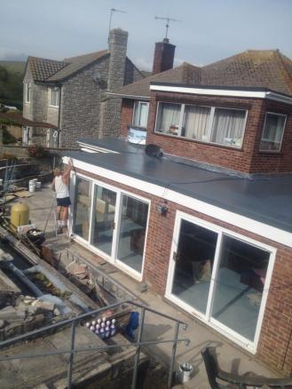 GRP Fibreglass Extension roof