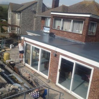 GRP Fibreglass Extension roof