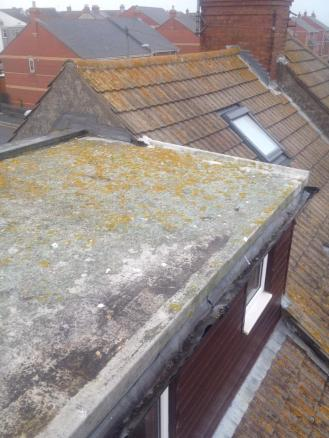 Before - Leaking Felt Roof