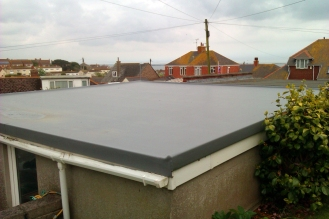 After - GRP Fibreglass Garage Roof