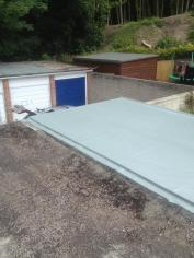 GRP Fibreglass Garage & Felt Roof