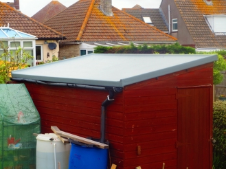GRP Fibre Glass Flat Shed