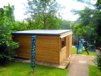 GRP Fibre Glass Shed